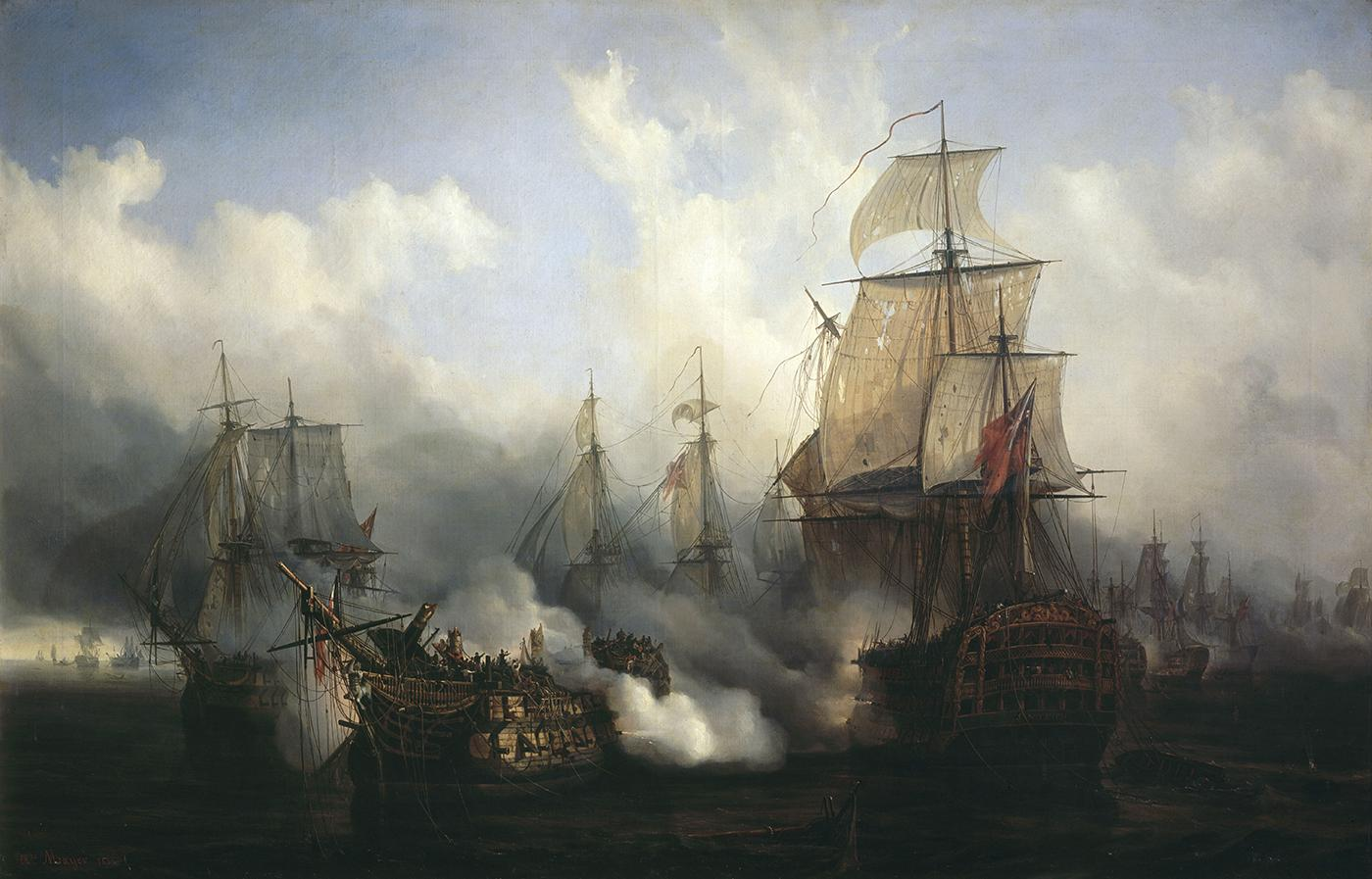 Trafalgar by Auguste Mayer, 1836