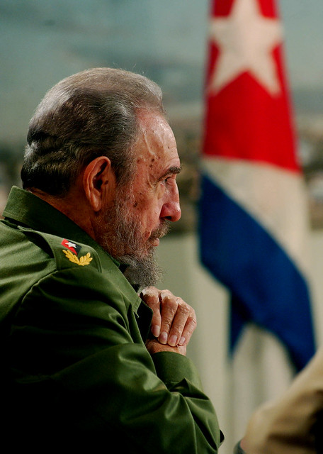 El Comandante en Jefe de la Revolución Cubana, Fidel Castro Ruz, en una foto tomado el 8 de septiembre de 2004.