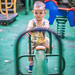 Portrait of baby boy playing in the Children's playground