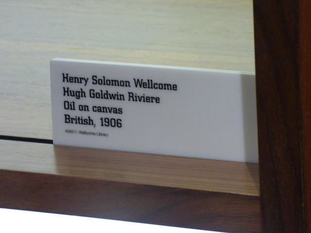 Photo:Wellcome Collection - Euston Road, London - Medicine Man -  portrait of Sir Henry Wellcome - sign By ell brown