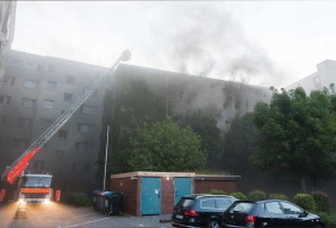 Incendio en un bunker de Hamburgo