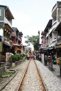 View of the railway passing through Shifen