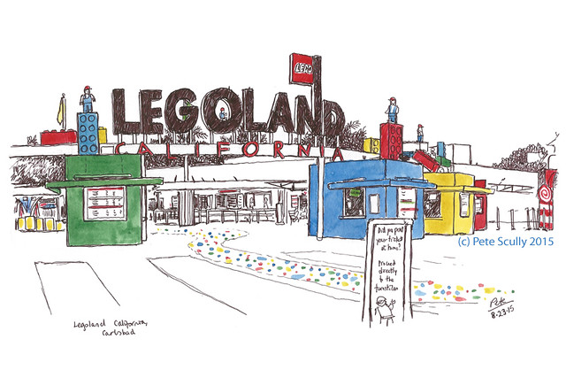 Legoland entrance, California