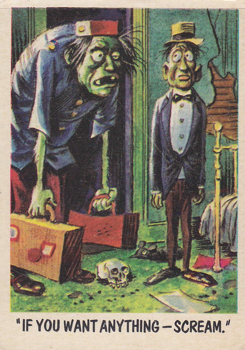"""You'll Die Laughing"" Topps trading cards 1959,  illustrated by Jack Davis (51)"