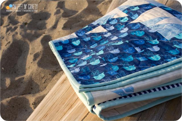 BeachQuilt-BindingSea-ImFeelinCrafty