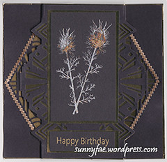 Art Deco Nigela Damascena Card
