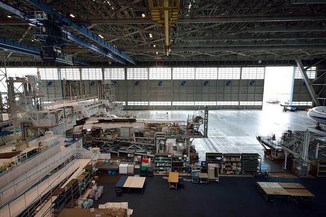 整備工場の3階から見た光景