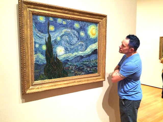 J and starry night