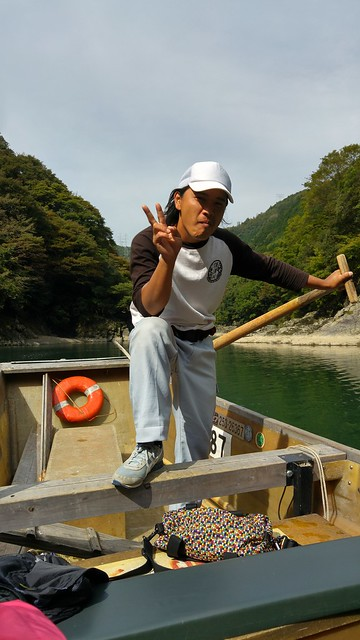 Steering the Hozu-gawa River