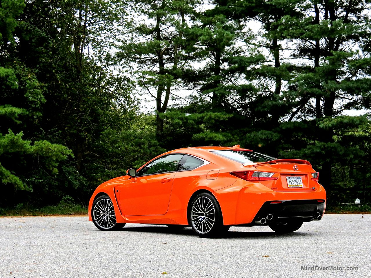 Orange Lexus RC-F Review 15