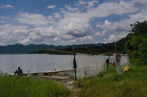ashanti ghana fishing net lakes bosumtwi africa westafrica botsomtwe