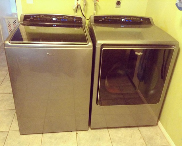 Ooh, aahh, I now have a matching washer and dryer! Bring on the mounds of laundry!!! #fbp
