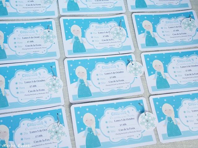 Invitaciones para cumpleaños Frozen. Merbo Events