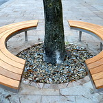 New public bench in Preston city centre