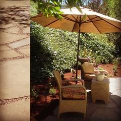 Pea gravel patio #cottage #designer #backyard #alfordsgarden#contractor #design#patio