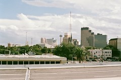 A view of downtown San Antonio from IH35