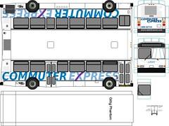 LADOT Commuter Express 1988 Gillig Phantom Paper Bus