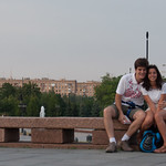 En el parque Pobedy