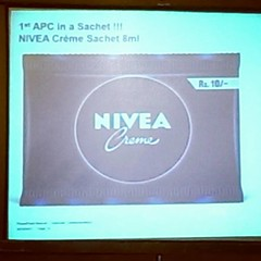 #FirstLook  #FirstTime  #SmallGetUp  #Nivea  #India   Nivea 8ml sachet for the rural area