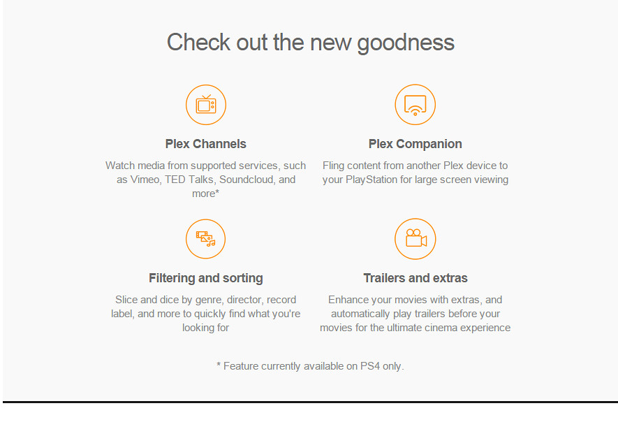 Plex app for PS4 out now in EU (media streaming / DLNA) | NeoGAF