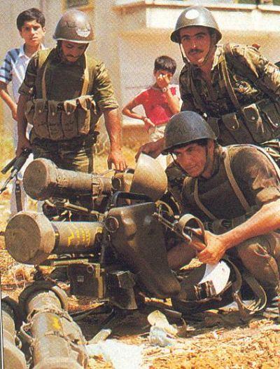 Syrian anti-tank teams deployed French-made Milan ATGMs during 1982 Lebanon War