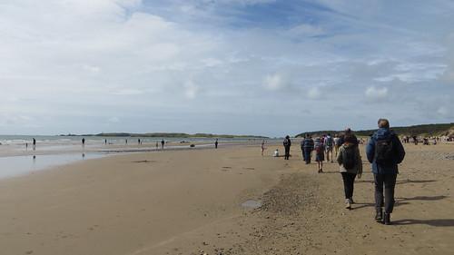 a meditative walk on the beach