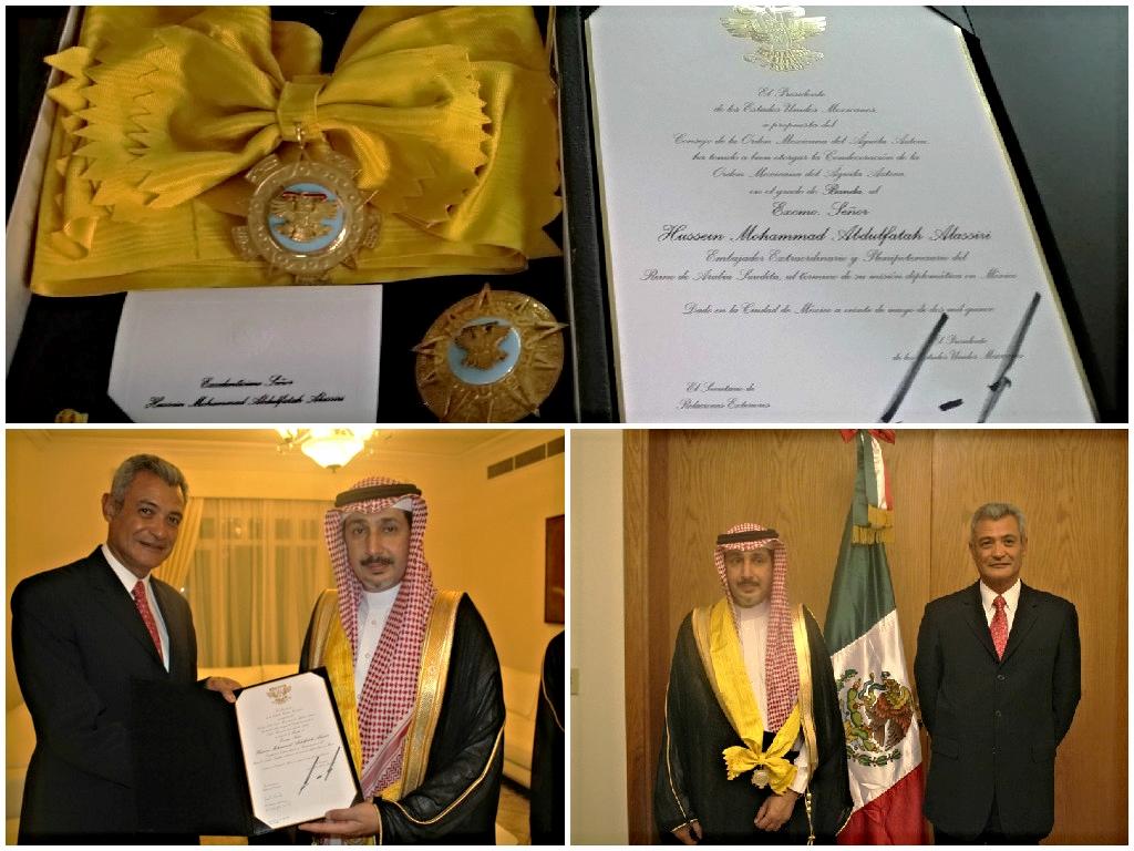 Condecoración con la Orden del Águila Azteca al Excmo. Sr. Hussein M.A. Alassiri, Arabia Saudita
