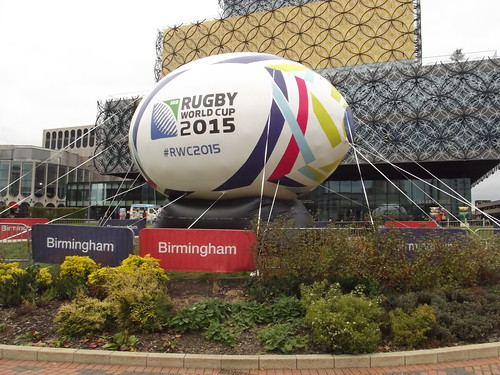 Giant Rugby ball - Rugby World Cup 2015 - Centenary Square, Birmingham