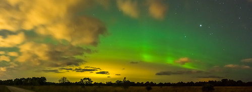 Pilved ja virmalised - Clouds and Northern Lights, 09.09.2015 Ülgase, Harjumaa, Estonia