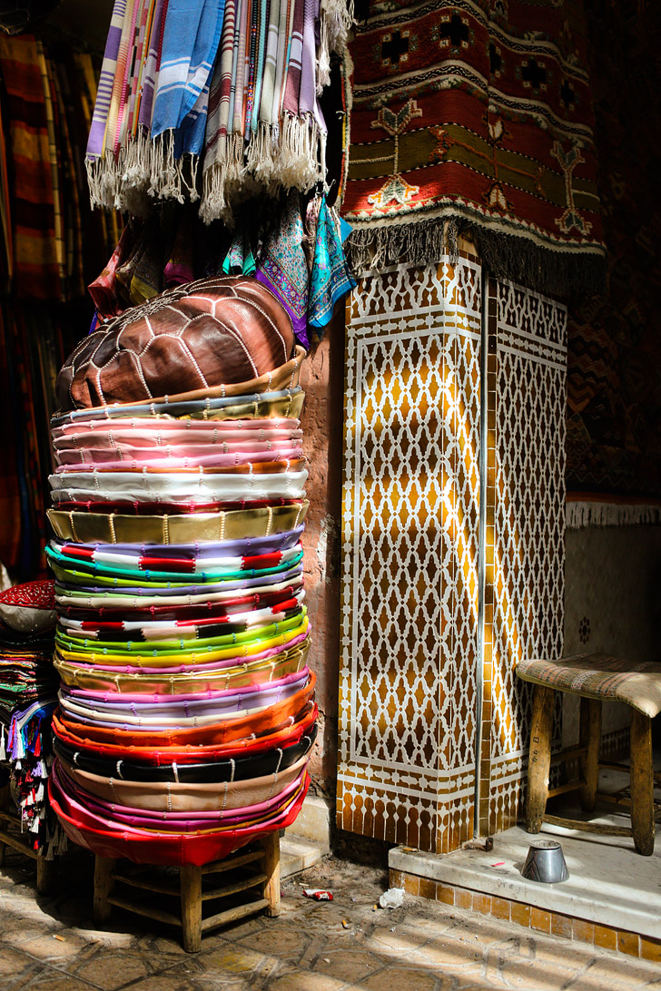 The Beautiful Colors of Marrakech Morocco at Place Jemaa El Fna.