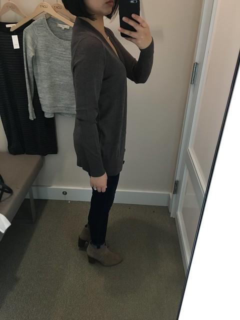 LOFT Boyfriend Cardigan, size XS regular