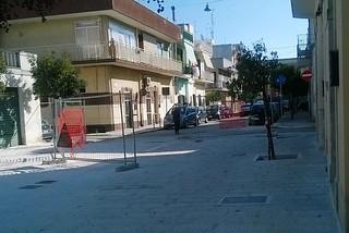 Noicattaro. Lavori villa comunale front