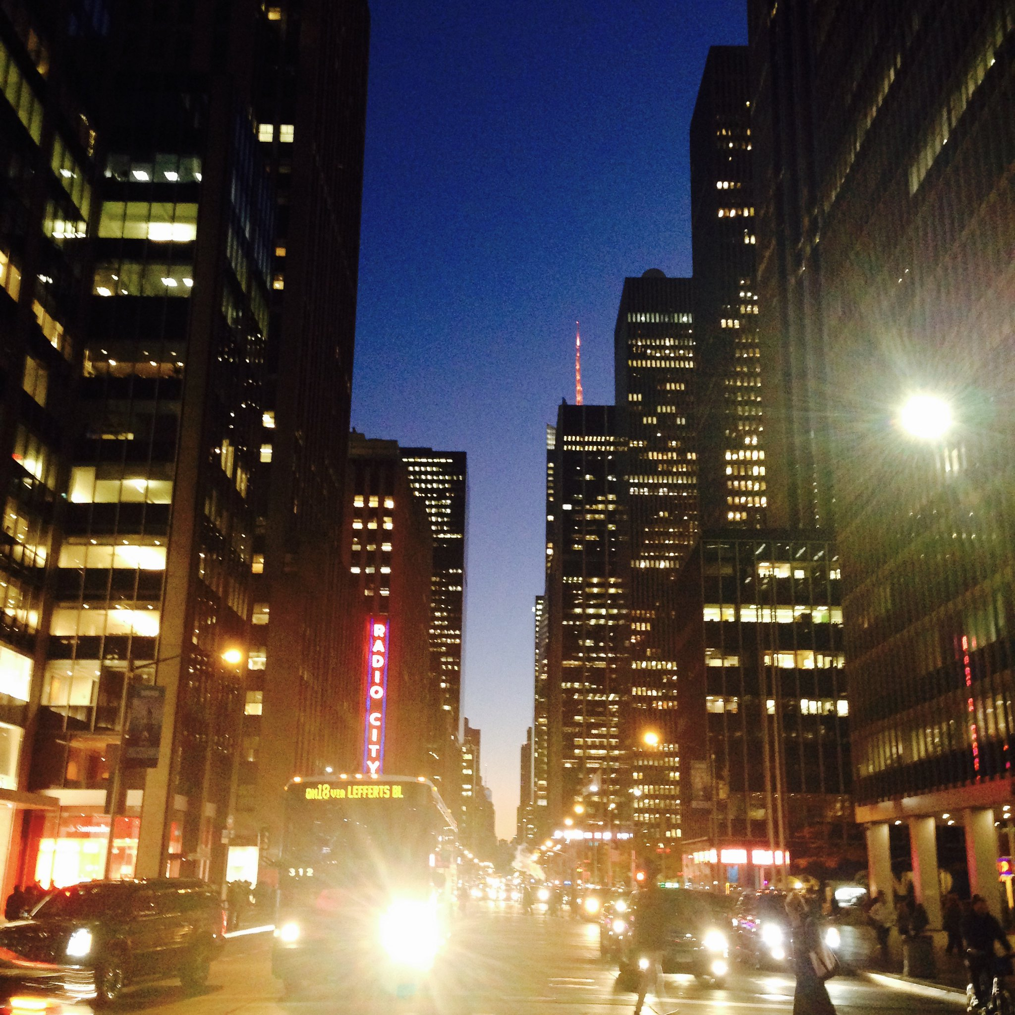 6th Ave at dusk