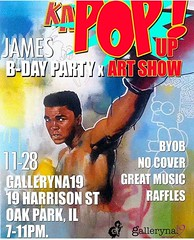 James Nelson @theartistforever #birthday party #art #popup show at @galleryna19 this Saturday! you're invited ... yes you!