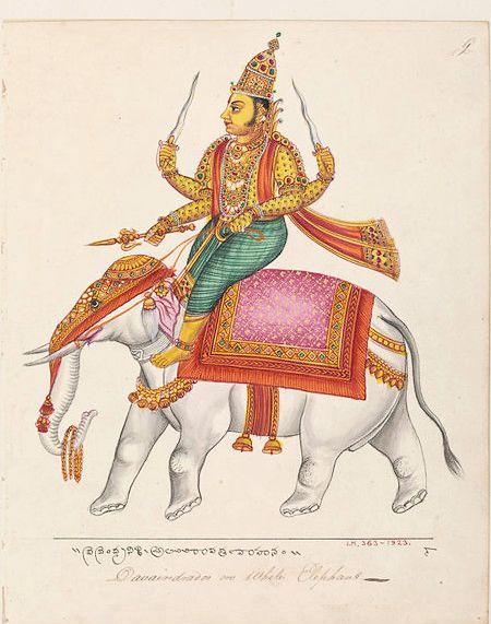 Indra Riding Airavata