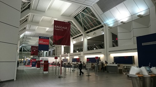 Ticket counters of LaGuardia Airport