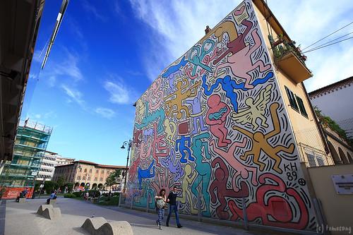 Murale Tuttomondo di Keith Haring