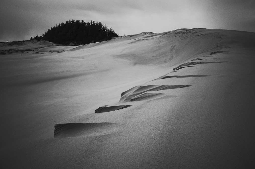 dunes on a rainy day
