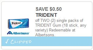 photograph relating to Trident Coupons Printable called 0.50/2 Trident Gum Singles coupon and $1/1 Swedish Fish or