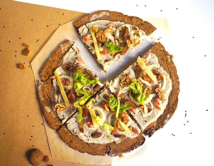 Pizza d'hiver châtaigne & chou-fleur 2