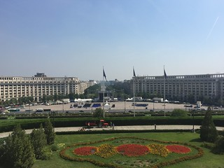 View of Piața Constituției and Bulevardul Unirii from the Palace of the Parliament