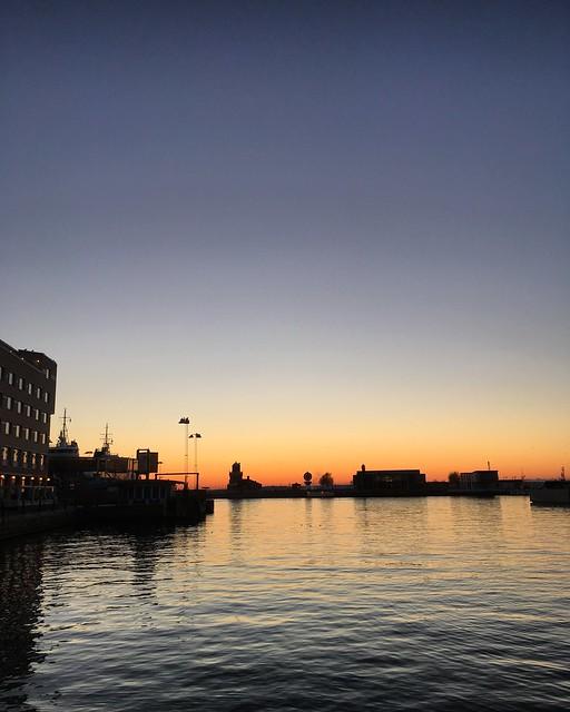 sunset, helsingborg