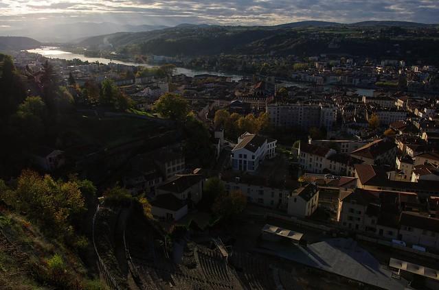 Vue de Vienne (France) depuis le belvédère de Pipet
