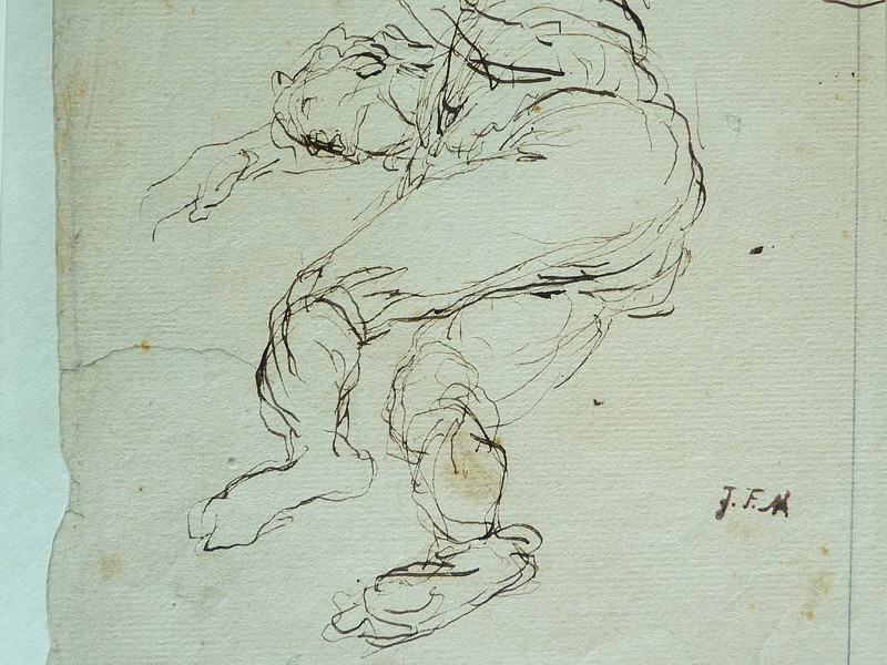 MILLET Jean-François,1850 - Départ pour le Travail, Etude - The Walk to Work  (drawing, dessin, disegno-Louvre RF11191) - Detail 62