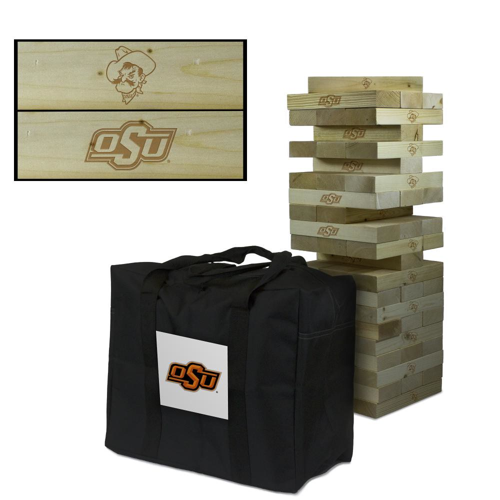 Oklahoma State University Cowboys Wooden Tumble Tower Game