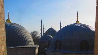 תמונה של The Blue Mosque ליד Eminönü. blue sofia istanbul mosque sultanahmet hagia camii ayya