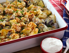 Cheesy Roasted Baby Potatoes