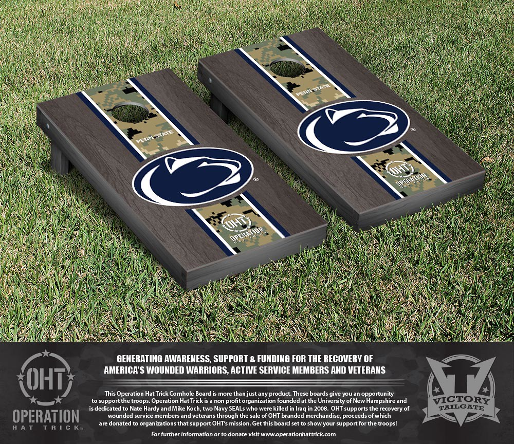 Penn State Nittany Lions Operation Hat Trick Onyx Stained Stripe Version