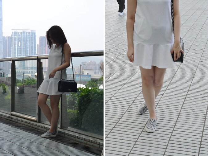 Daisybutter - Hong Kong Fashion Blog: girly outfits with slip-ons