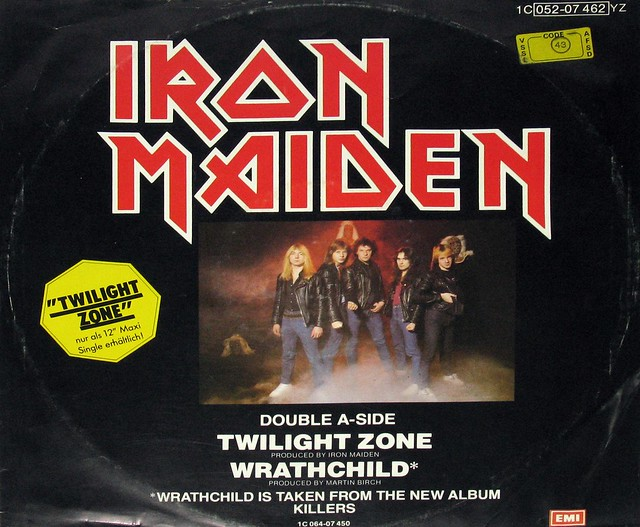 "IRON MAIDEN TWILIGHT ZONE / WRATHCHILD   12"" MINT MAXI-SINGLE RARE DOUBLE A-SIDED"